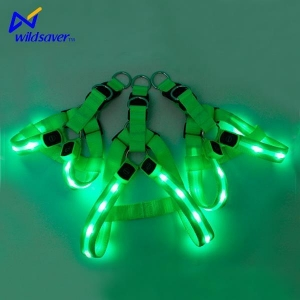 China Pet Accessories Custom Rechargeable Glowing LED Light Pet Vest Harness for Small and Large Dogs on sale