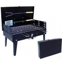 Camping bbq Grill Charcoal Lotus Grill With Ash Plate