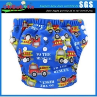 Ohbabyka Baby Training Pants Washable Reusable Nappy Diaper Soft Baby,Fire Engines
