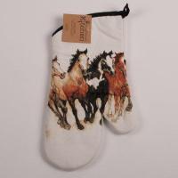 Running Horses Oven Mitt