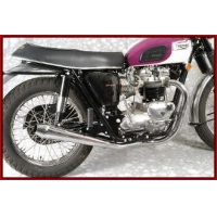 Triumph Exhaust MAC Triumph 650 1963-72 X-MAC-TOR 2 to 2 Ceramic Exhaust System