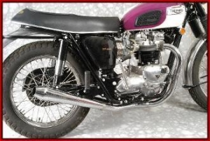 China Triumph Exhaust MAC Triumph 650 1963-72 X-MAC-TOR 2 to 2 Ceramic Exhaust System on sale