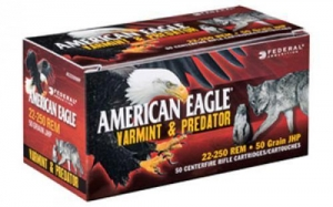 China Federal American Eagle Varmint & Predator, 17 Hornet, 20 Grain, Tipped Varmint, 50 Round Box on sale