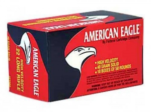 China Ammunition Federal American Eagle, 22LR, 40 Grain, Lead, 50 Round Box on sale