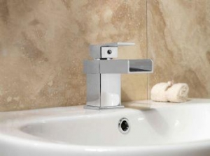 China SP Cascade Basin Mixer Tap W: 60mm H: 128mm D: 150mm on sale