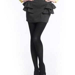 China Women Black Cashmere Blends Leggings on sale
