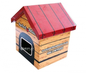 China Small Healthy Cardboard Pet House for Lovely Dogs and Cats Display on sale