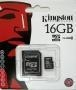 China Memory Cards KINGSTON 16GB MICRO SD SDHC CARD - CLASS 10 on sale