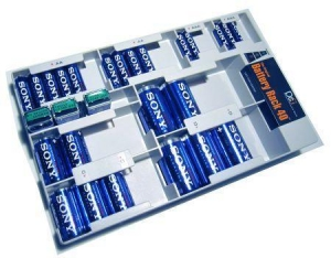 China Store-40 Battery Storage Kit with Batteries/Tester on sale