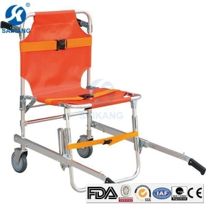 China Portable Emergency Aluminum Alloy Stair Folding Stretcher for Ambulance on sale