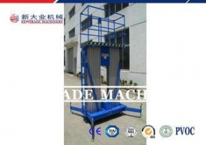 China 6-16M 120KG Mobile Aluminum Mast Climbing Work Platform With Dual Mast on sale
