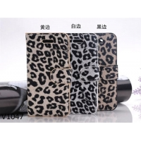 China Leopard Skin Hard Case Cover for iPhone 5s Leather Case with Good Touch Feeling on sale