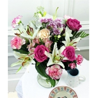 Get Well Flowers Pink & White Bouquet Guernsey Flowers 28.50 24.50 Pink & White Bouquet