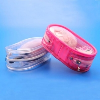 Plastic Cosmetic Bags Custom Heat Resistant Zebra Strip PVC Cosmetic Beach Bag