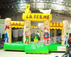 China La Ferme Toddler Inflatable Bouncy Castle Game/Le Ferme Inflatable Jumping City Fun Land on sale