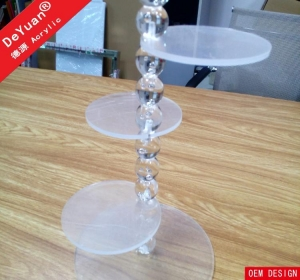 China acrylic cake stand Mini Wedding Cake Stand Acrylic Round / Custom Cake Display on sale