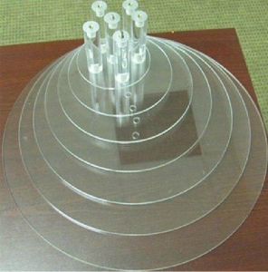 China Round Cake Stand Clear Round Wedding Cake Stands / Tiered Cake Stand Display on sale