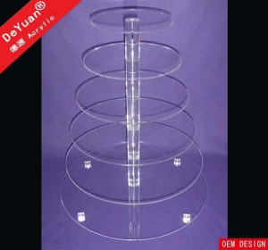 China Round Cake Stand 4 Tier Round Perspex Cake Stand For Wedding Party on sale