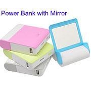 China Dual USB Battery Charger with Mirror 12000mAh on sale