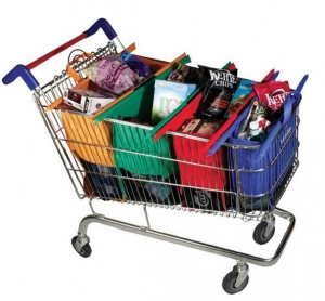 China supermarket trolley shopping bag on sale