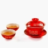 China Tea Set Red Chinese Kung Fu Tea Set for sale