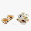 China Tea Set Flowers Chinese Kung Fu Tea Set for sale
