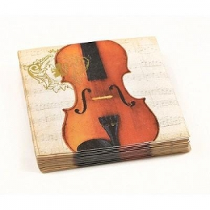 China New & Noteworthy Concert Violin Napkins (beverage or luncheon) on sale