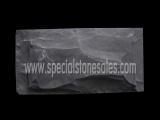 China Stone Tiles & Slabs Mushroom Black Slate Wall Split Face Wall Tiles on sale