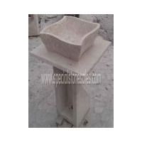 Stone Tiles & Slabs Travertine Vessel Vanity Sink Bowls Wash Hand Basins