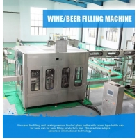 Professional Automatic 3 In 1 Beer Bottling Filling Machine