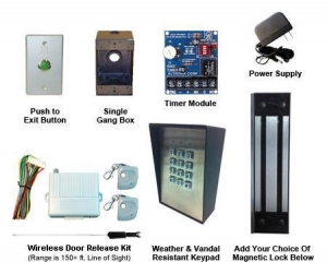 China 1000KPWRVRkit Gate Access Magnetic Lock Kit With Heavy Duty Weather Resistant Keypad on sale