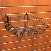 China Chrome Wire Basket for Slatwall - 15 in. W x 12 in. D x 3 - 6 in. H on sale