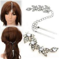 China Rhine Stone Leaves Hair Accessories Hairpin Female Hair Ornaments Fashion Temperament on sale