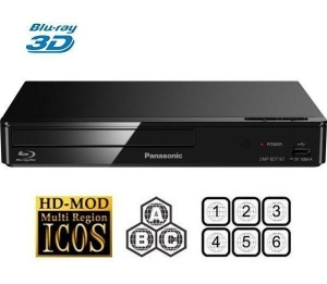 China Pana DMP-BDT167 3D Bluray Player Multiregion Blu-ray+DVD Refurb on sale