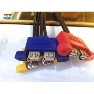 China Double USB Female Connector on sale