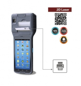 China Industrial Portable Android 2D/QR Barcode Scanner And NFC Reader,2 inchThermal Printer LS550S(2D) on sale