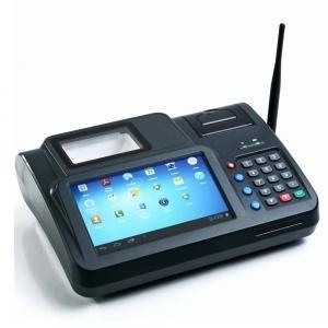 China 7 Android Fingerprint Countertop Terminal pos system with Printer on sale