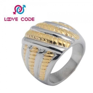 China 14k gold plated ring stainless steel jewelry for men on sale