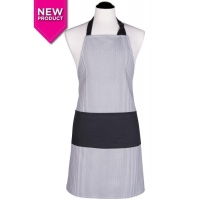 Men's Black Pinstripe Apron