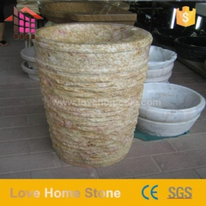 China Cheap Price Basin Stone,stone Wash Bowl For Hotel Bathroom on sale