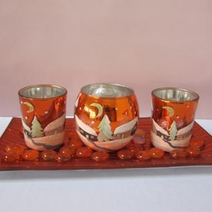 China Hand Made Machine Made High Quality Crystal Glass Candle Holder on sale