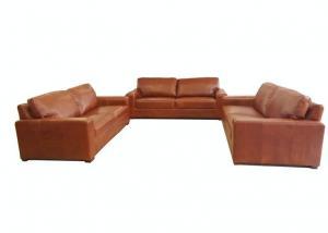 China 3+2+1 Sofa Set Antique aniline leather sofa sets A1009 on sale
