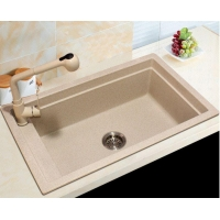 Enjoying Reputation Single Bowl Top-mount Restaurant Quartz Stone Sink for the Real Estate