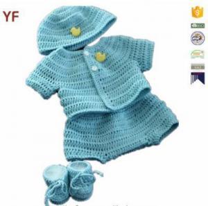 China 100% Cotton Free Crochet Sweater Baby Pattern on sale