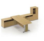 China Wood Veneer Manager Desk on sale