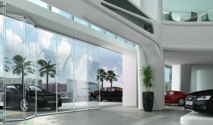China Glass folding door without side frame Glass folding door without side frame on sale