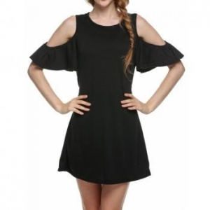China CLEARANCE New Woman Butterfly Sleeve Cute Strapless Dress Plus Size Novelty T Shirt Dress on sale