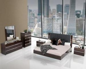 China BEDROOM Contemporary Luxury Ebony Lacquer Bedroom Set 44B116SET on sale