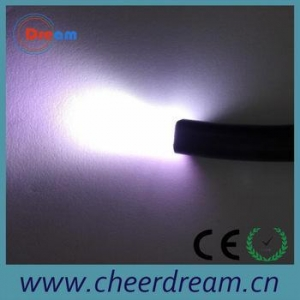 China PMMA 0.75mm 126 strands end glow fibre optic cable on sale