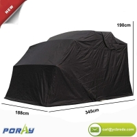 China Heavy Duty Motorcycle Shelter Tourer Motorcycle Cover Storage Garage Tent with TSA Code Lock Carry B on sale